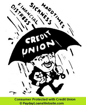 Man with credit Union Protection